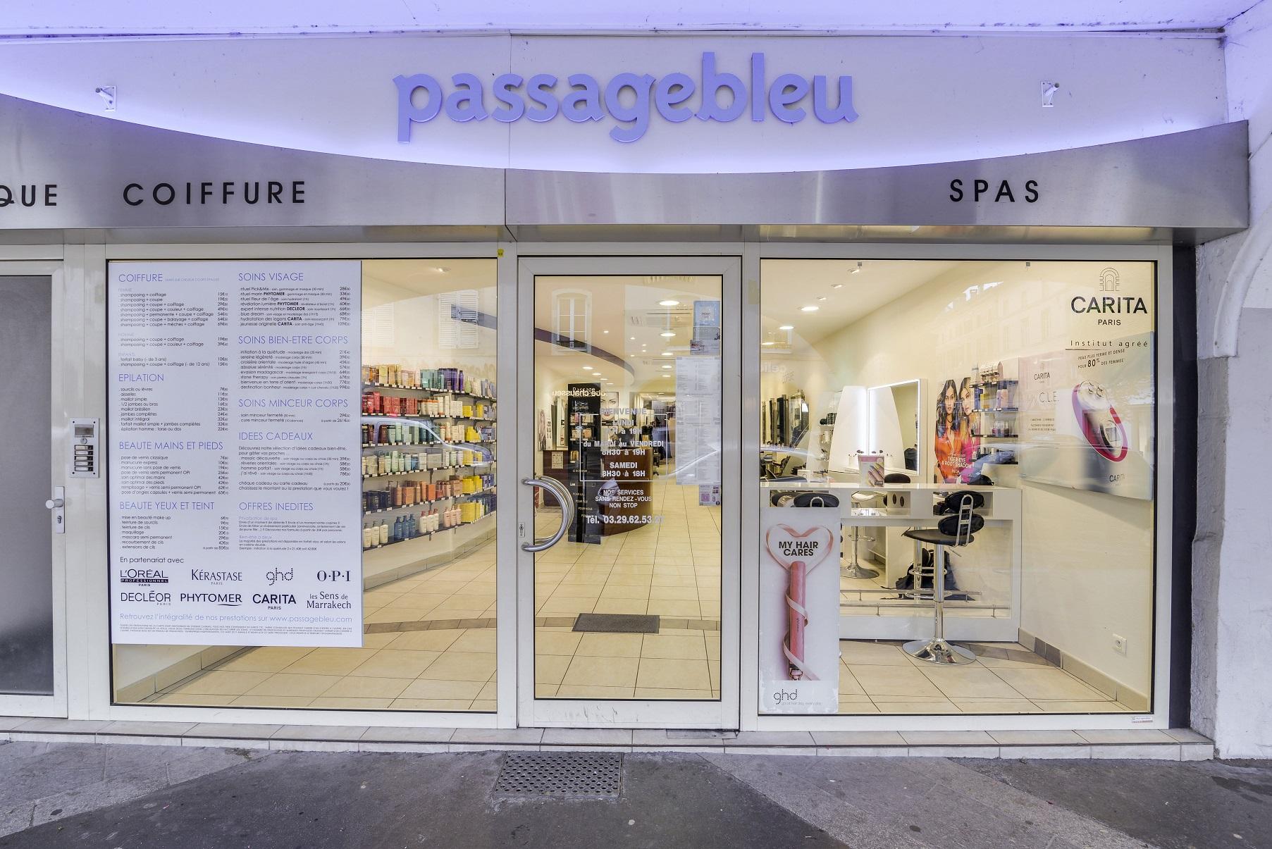 Passage Bleu Remiremont, institut de beauté et coiffeur Remiremont