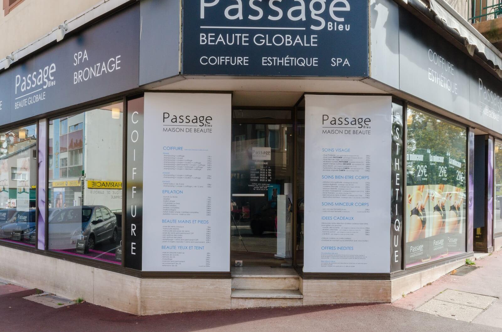 Passage Bleu Sarreguemines, institut de beauté, coiffeur Sarreguemines